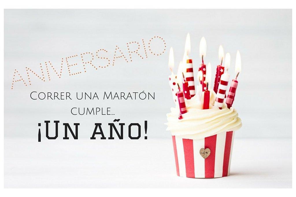 Anniversary Running a Marathon