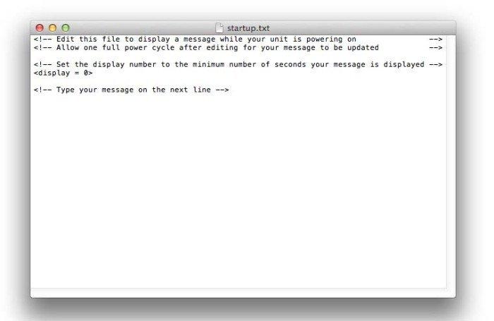 Garmin Edge Startup.txt file