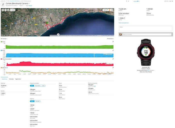 Garmin Forerunner 225 - Activity Summary