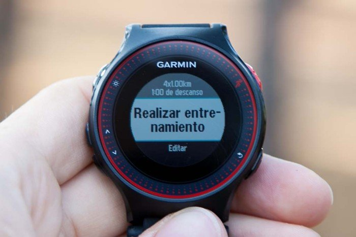 Garmin Forerunner 225 - Quick interval creation
