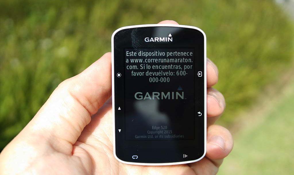 Cómo mostrar tu nombre y teléfono en tu Garmin Edge 1