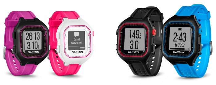 Garmin Forerunner 25 - Colors and Sizes
