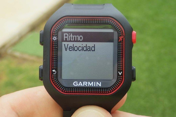 Garmin Forerunner 25 - Pace or speed selection