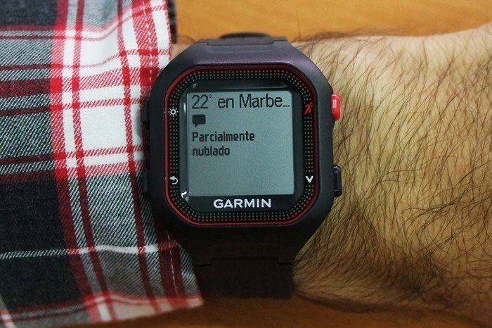 Garmin Forerunner 25 - Notificación desplegada