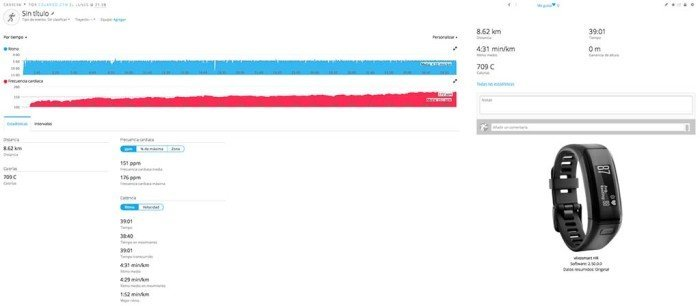 Garmin Vivoactive HR - Synchronized Running Activity