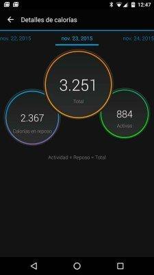 Garmin Vivosmart HR - Calorie comparison