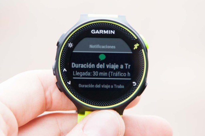 Garmin Forerunner 230 - Widget notifications