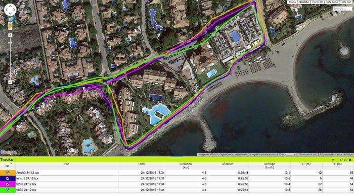 Garmin Forerunner 630 - Comparativa de GPS