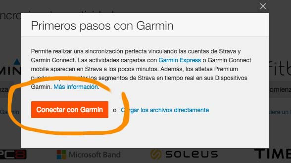 Synchronize Garmin with Strava
