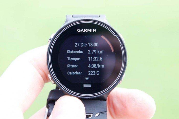 Garmin Forerunner 630 - Resumen de actividad