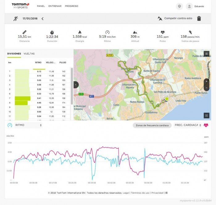 TomTom Runner 2 - Web MySports