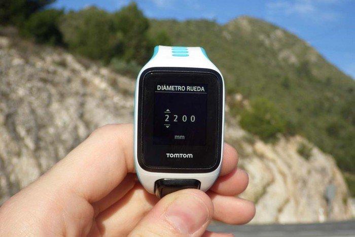 TomTom Runner 2 - Tamaño de rueda