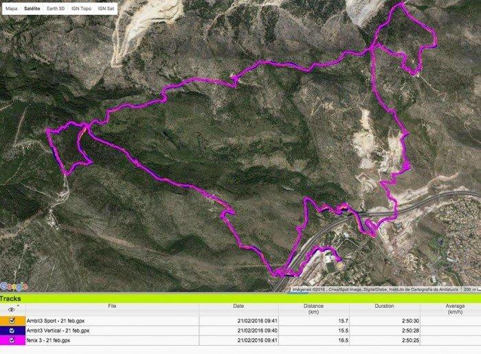 Suunto Ambit3 Vertical - GPS track