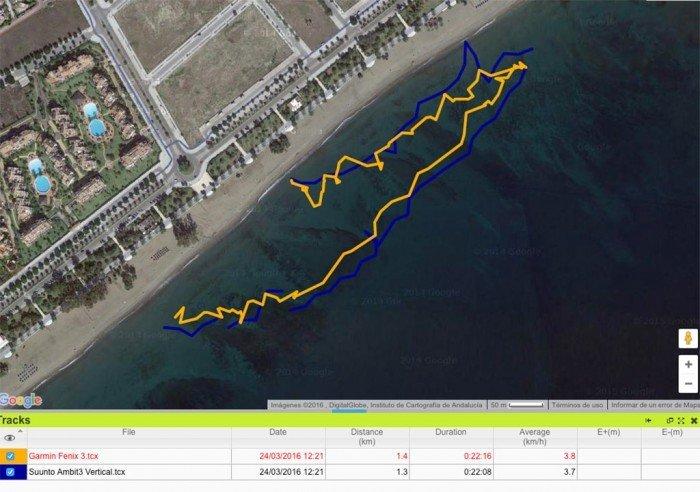Open Water Comparison - Garmin Fenix 3 and Suunto Ambit3 Vertical