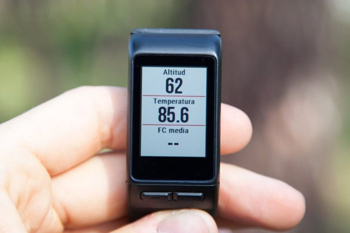 Garmin Vivoactive HR - Altitude and temperature data