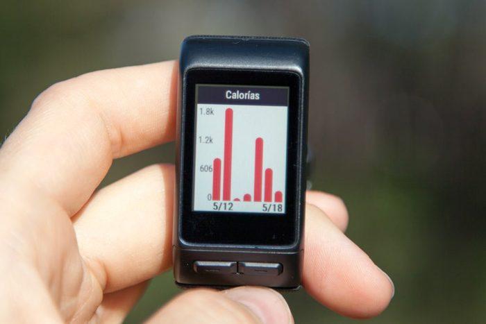 Garmin Vivoactive HR - Calories last 7 days
