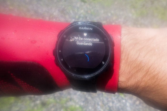 Garmin HRM Tri HRM Swim - sincronizando