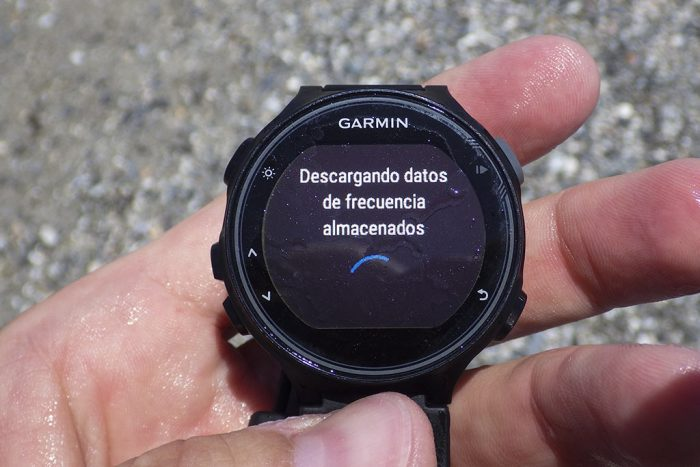 Garmin HRM Tri - Descargando datos