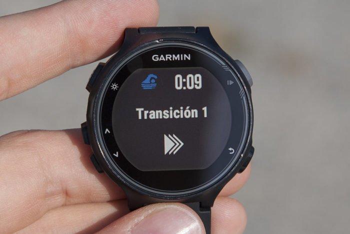 Garmin 735XT - Transición