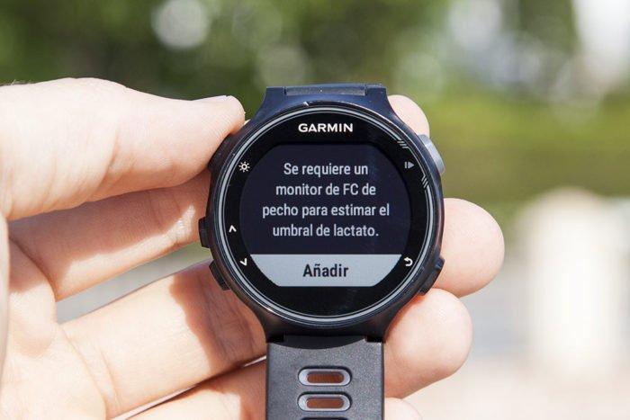 Garmin 735XT - Necesario sensor de pulso