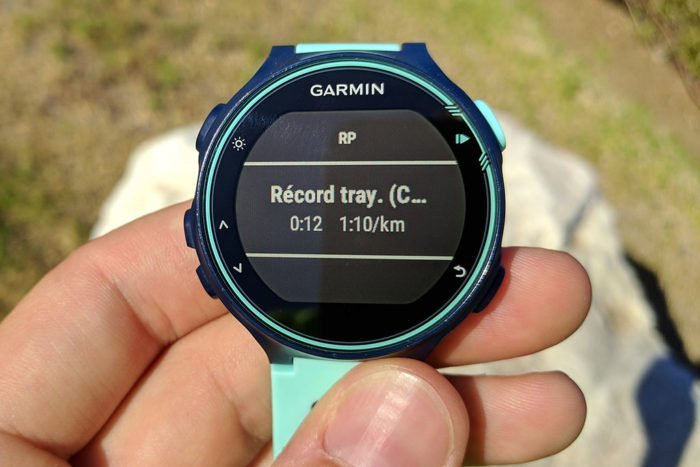 Garmin 735XT - Tiempo segmento
