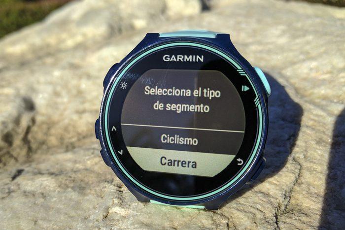 Garmin 735XT - Tipo segmento