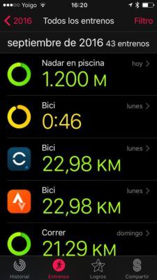 Apple Watch series 2 - Monitor de actividad