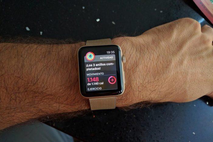 Apple Watch S2 - Círculos de actividad completos