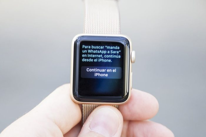 Apple Watch S2 - Continuar en el iPhone