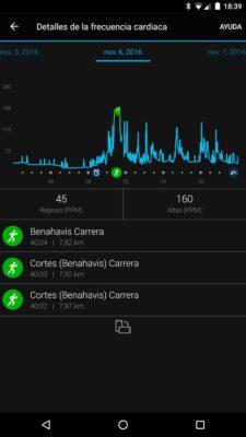 Garmin FR35 - FC en app
