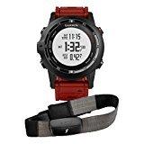 Garmin Fenix 2 Performer Pack Edición Especial - Reloj con GPS (incluye pulsómetro HRM RUN), color negro / rojo