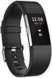 Fitbit Charge 2 - Pulsera de actividad física y ritmo cardiaco unisex, color negro, talla L