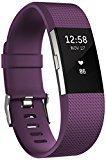 Fitbit Charge 2 - Pulsera de actividad física y ritmo cardiaco unisex, color ciruela, talla L