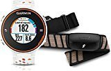 Garmin Forerunner 620 HRM - Reloj de carrera con GPS con pulsómetro, color blanco / naranja
