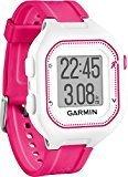 Garmin Forerunner 25 - Reloj deportivo, color blanco y rosa, talla S