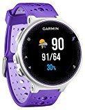 Garmin Forerunner 230 - Pack con reloj de carrera y pulsometro premium, unisex, color morado y blanco, talla regular