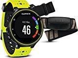 Garmin Forerunner 230 - Pack con reloj de carrera y pulsometro premium, unisex, color amarillo y negro, talla regular