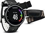 Garmin Forerunner 230 - Pack con reloj de carrera y pulsometro premium, unisex, color negro y blanco, talla regular
