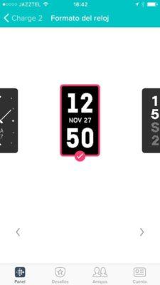 Fitbit Charge 2 - Configurar pantalla