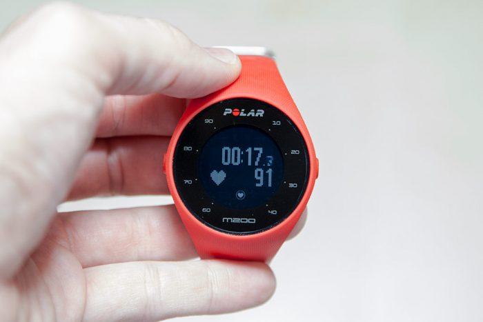 Polar M200 - Pantalla datos