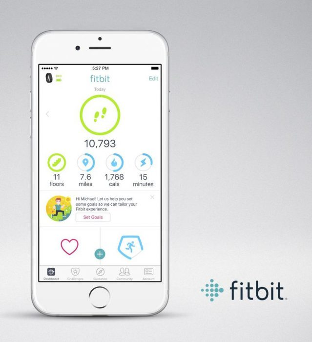 Fitbit personal objectives