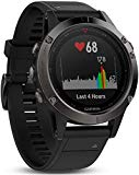 Garmin Fenix 5 Sport GPS Watch with Outdoor Navigation and Heart Rate, 1.2 Inch Screen, Black Band Color
