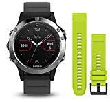 Garmin Fenix 5s deporte gps reloj con al aire libre navegación y ritmo cardíaco, pantalla de 1.2 inches, 0.067 kilograms, color Granite Blue Band