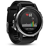 Garmin Fenix 5s sport gps watch with outdoor navigation and heart rate, 1.1 inch display, 0.069 kilograms, black strap colour