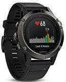 Garmin Fenix 5 deporte GPS Reloj con al aire libre navegación y Ritmo Cardíaco, Pantalla de 1.2 inches, Color Cinta Negra