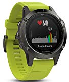 Garmin Fenix 5s sport gps watch with outdoor navigation and heart rate, 1.2 inch display, 0.067 kilograms, Yellow Band