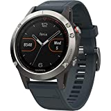 Garmin Fenix 5s sport gps watch with outdoor navigation and heart rate, 1.2 inch display, 0.067 kilograms, color Granite Blue Band