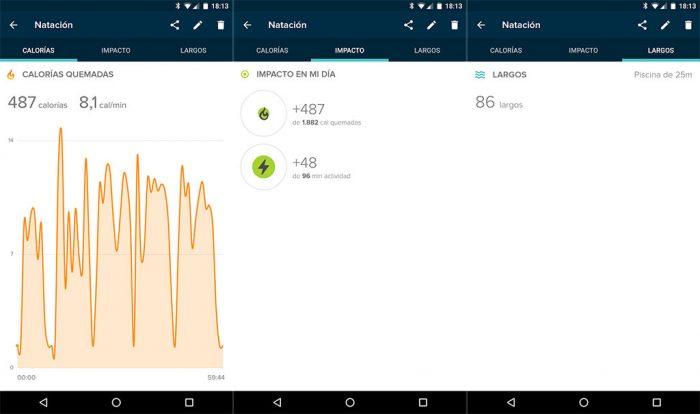 Fitbit Flex 2 - Comparativa natación