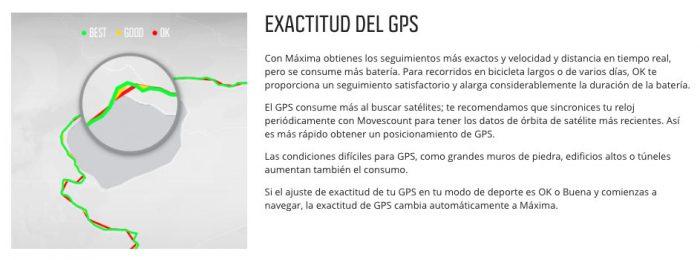 Suunto Spartan - Precisión GPS