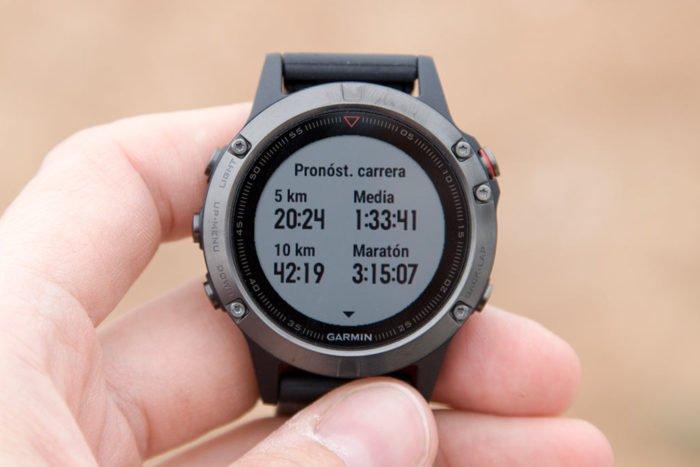 Garmin Fenix 5 - Estimación tiempos de carrera